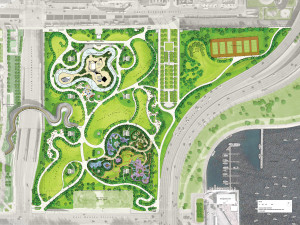 Site Plan for Maggie Daley Park / courtesy of MVVA
